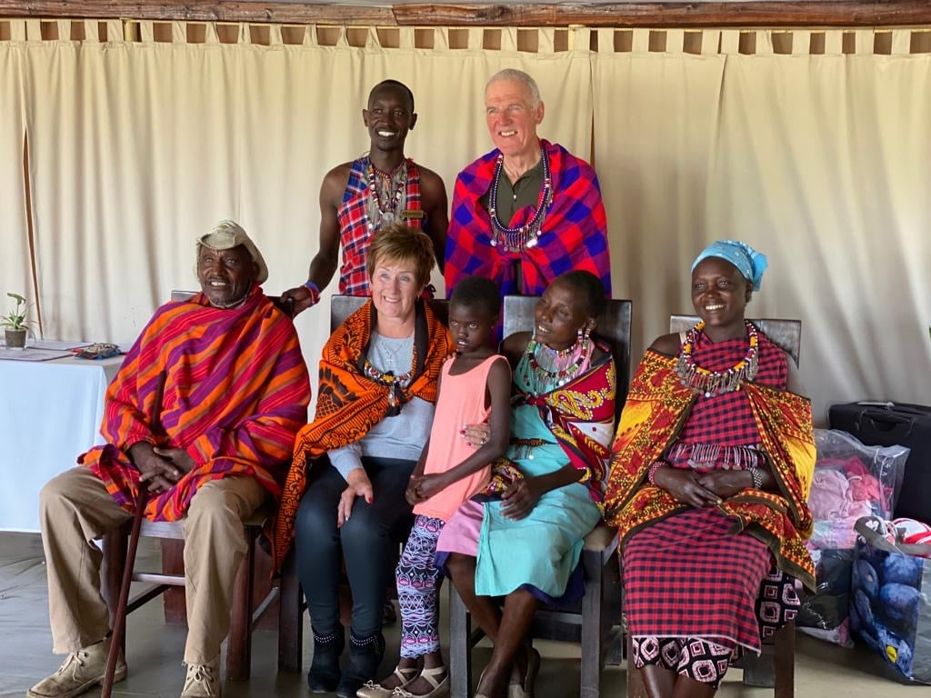 Presentation to Joyce & the Village Elder - Photo courtesy of Helen Jones, Mara 2019
